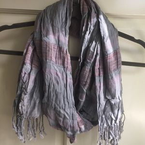 Accessories - Cottony Boho Scarf with Subtle Stripes